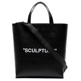 Off White-Grand sac cabas Sculpture noir blanc-Noir