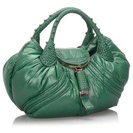 Fendi-Fendi Green Nylon Moncler Espion-Vert