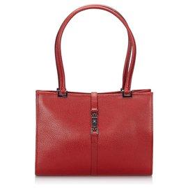 Gucci-Gucci Sac à bandoulière en cuir rouge Jackie-Rouge