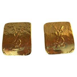 Yves Saint Laurent-Yves Saint Laurent earrings-Golden