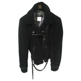 Chanel-Biker jackets-Black