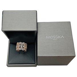 """Messika-Bague Messika  """"Arabesque"""" en or rose, diamants.-Autre"""
