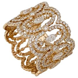 "Messika-Messika ring ""Arabesque"" in pink gold, diamants.-Other"