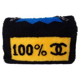 Chanel-CHANEL CLASSIC COMICS BAG-Black,Multiple colors