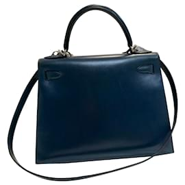Hermès-Kelly 28-Blue