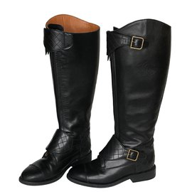 Chanel-Riding Boots Quilted-Black
