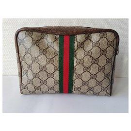 Gucci-Pochettes-Marron,Rouge,Beige,Vert olive