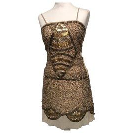 Flavio Castellani-Dresses-Beige,Golden