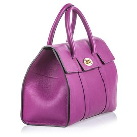 Mulberry-Mulberry Purple Leather Bayswater Satchel-Purple