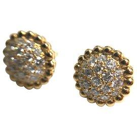 Van Cleef & Arpels-Boucles d'oreilles en diamant Van Cleef & Arpels Perlee-Doré