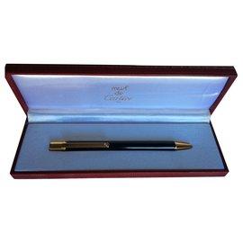 Cartier-Must II Ballpoint Pen-Black