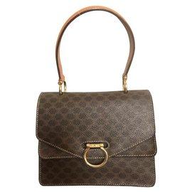 Céline-Handbags-Chestnut,Caramel