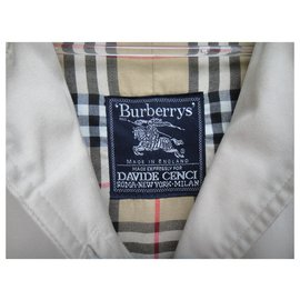 Burberry-Waterproof Burberry vintage size 34/36-Beige