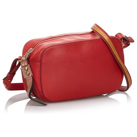 Chloé-Chloe Red Leather Sam Crossbody Bag-Brown,Red