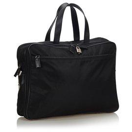 Prada-Sac d'affaires Prada en nylon noir-Noir