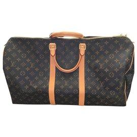 Louis Vuitton-Keepall 50-Marron foncé