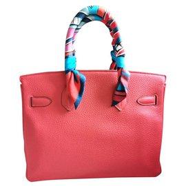 Hermès-HERMES BIRKIN 30 à Clemence Rose Jaipur PHW-Rose
