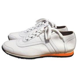 Hermès-Sneakers-White,Orange