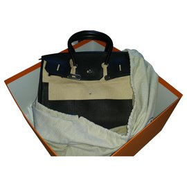 Hermès-Birkin 35. Toga leather-Black