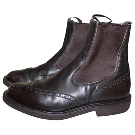 Trickers-Tricker's London Country boot.-Brown