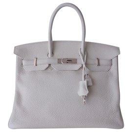 Hermès-HERMES BIRKIN BAG 35-White