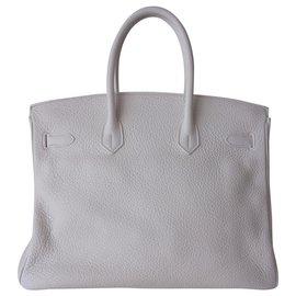 Hermès-SAC HERMES BIRKIN 35-Blanc