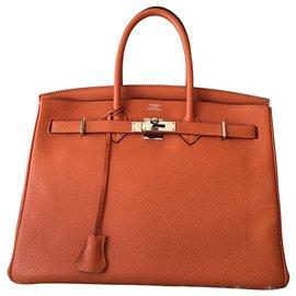 Hermès-HERMES BIRKIN 35-Orange