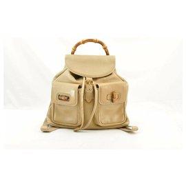 Gucci-Gucci Backpack bamboo-Beige