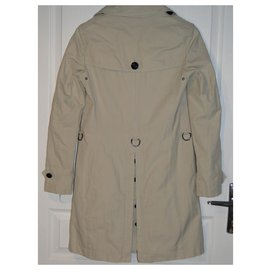Burberry-BURBERRY cropped trench coat 36-Cream
