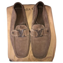 Louis Vuitton-Louis Vuitton Monte Carlo loafers-Brown,Taupe