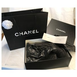Chanel-Combat boots with Box-Dark grey