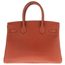 Hermès-Hermès Birkin 30 en cuir Togo couleur Cuivre, Bijouterie en métal argent Palladié, 2017, Full set !, Full set !-Cuivre