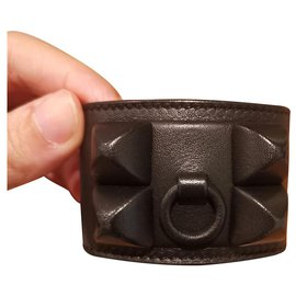 Hermès-Rare Hermes Black Shadow CDC bracelet-Black