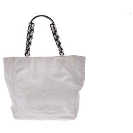 Chanel-Chanel Vintage Tote Bag-White