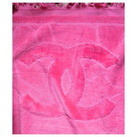 Chanel-Sublime Chanel bath towel sheet-Pink