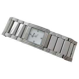 """Poiray-Poiray """"My First Cuff"""" watch in steel, Mother of pearl dial, diamants.-Other"""