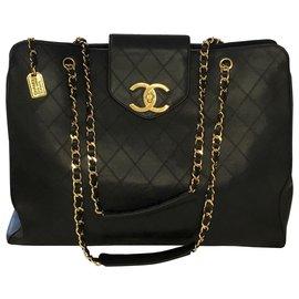 Chanel-XL Travel Tote Bag-Black