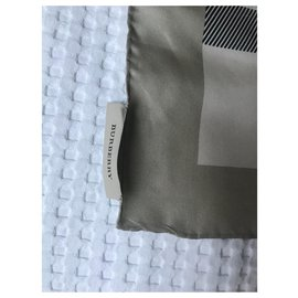 Burberry-Silk scarves-Grey