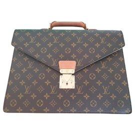 Louis Vuitton-Napkin Conseiller from Canvas in Brown, Monogram-Brown