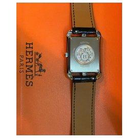Hermès-Montre Hermes Diamond avec tour de code-Bleu foncé