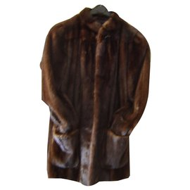 Yves Salomon-Coat 3/4 mink-Dark brown
