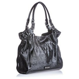 Burberry-Burberry Black Patent Leather Tote Bag-Black