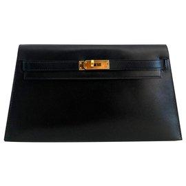 Hermès-Hermes Kelly Long Clutch-Black