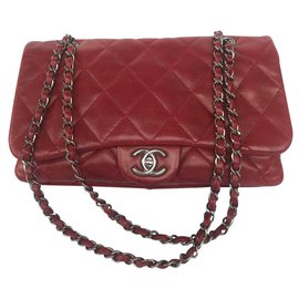 Chanel-classical-Red,Dark red