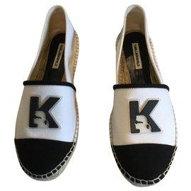 Karl Lagerfeld-Espadrilles-White