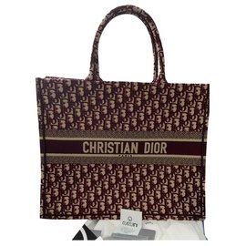 Dior-Dior Book Tote-Bordeaux