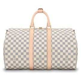 Louis Vuitton-Louis Vuitton Keepall-Blanc