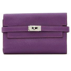 Hermès-KELLY ANEMONE SILVER-Purple