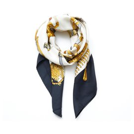 Hermès-MEMORY HERMES-Black,Golden,Cream