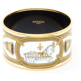 Hermès-LARGE APARAT EXTRA LARGE TS-Black,White,Golden